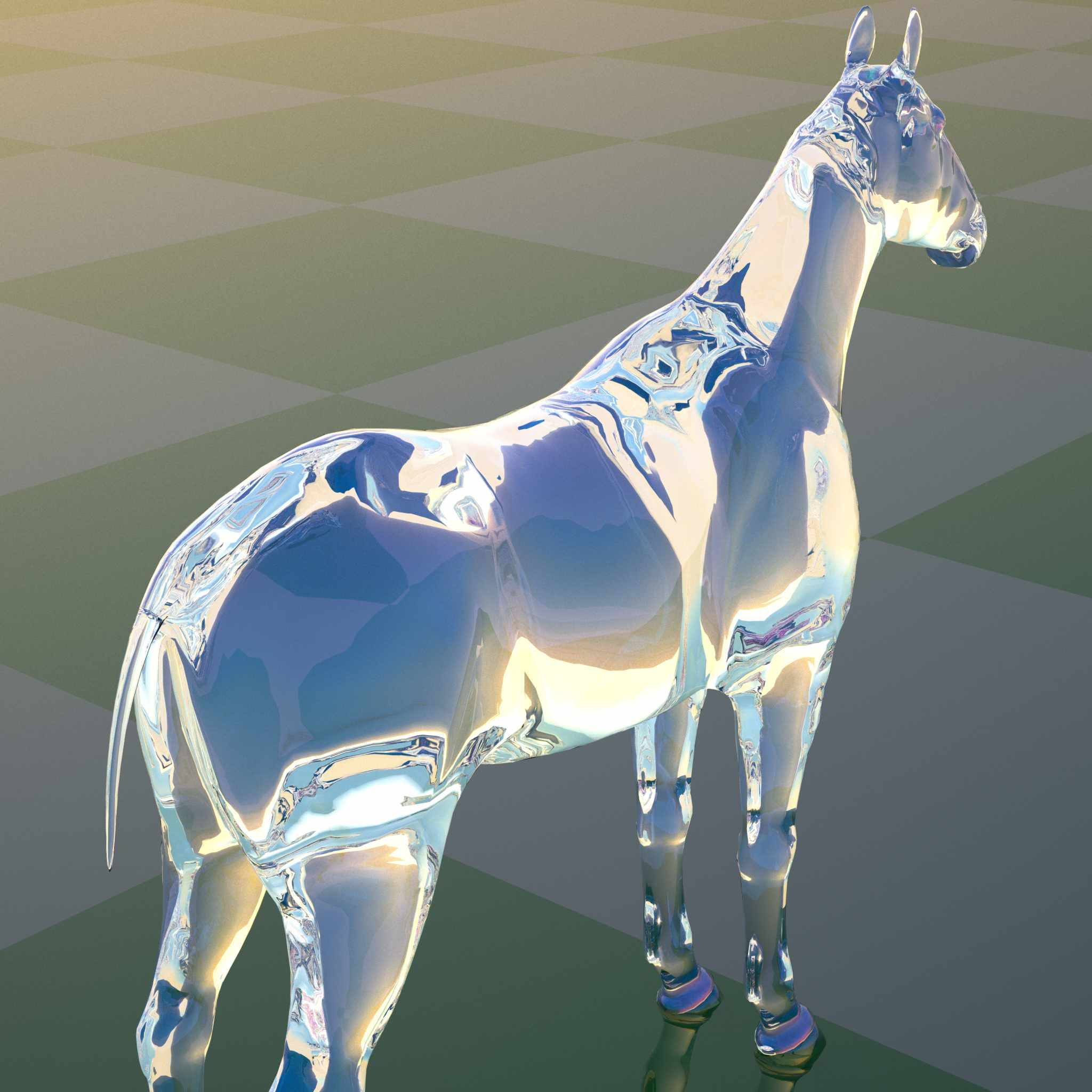 Image: glass horse